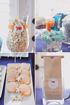 Goldfish Party for Fishy Girl. Lovin the popcorn idea here!