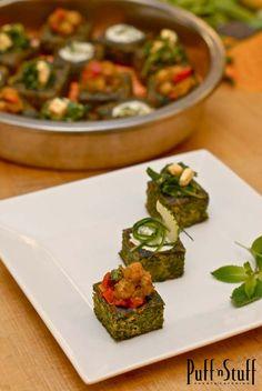 Filled Spinach Pakoras | Puff 'n Stuff Catering