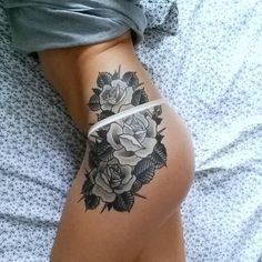 This rose tat is incredible! Follow: @inkspiringtattoos for more! #tattooinkspiration