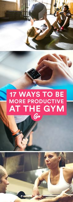 Never waste time aimlessly wandering between free weights and cardio machines again. #workout #fitness #productivity http://greatist.com/fitness/17-smart-ways-be-more-productive-gym