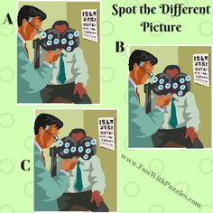 Spot The Different Picture Puzzles-Eye Doctor