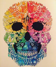 Johanna Basford Skull Enchanted Forest Colouring Book