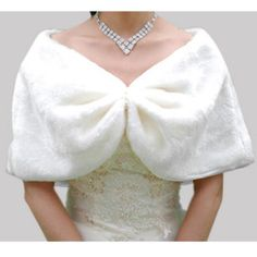Faux Fur Special Occasion/ Wedding Shawl only £31.26 delivered to the UK