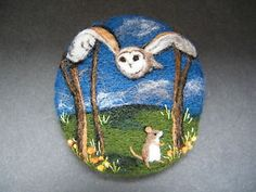 Handmade-needle-felted-brooch-The-Owl-and-the-Midnight-Mouse-by-Tracey-Dunn