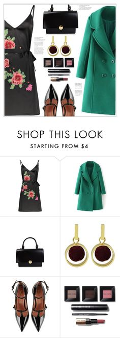 """""""Floral Slip Dress"""" by mycherryblossom on Polyvore featuring RED Valentino and Bobbi Brown Cosmetics"""