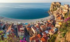 The village of Scilla, with Castello Ruffo, Reggio Calabria Italy Vacation, Italy Travel, Italy Trip, Italy Italy, European Vacation, Venice Italy, Travel Usa, Reggio Calabria, Best Holiday Destinations