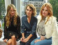 Cressida Bonas, Alexa Chung and Bella Thorne sat front row at the Topshop Unique show during London Fashion Week at The Queen Elizabeth II Conference Centre