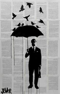 """Saatchi Online Artist: Loui Jover; Ink 2013 Drawing """"just a perfect day"""""""