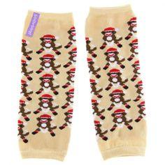 Baby Sock Monkey Leg Warmers
