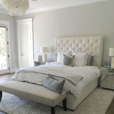 Paint color is Silver Drop from Behr.  Beautiful light warm gray. Stunning. Eye for Pretty