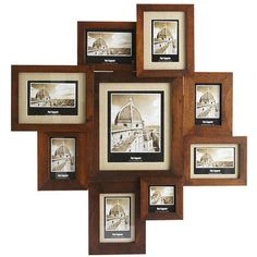 "Pier1 $71.96 Nottingham Collage Frame  31.50""W x 1.75""D x 33.25""H Holds 1 8"" x 10"" photo, 2 5"" x 7"" photos, 5 4"" x 6"" photos, 1 3.75"" x 3.75"" photo"