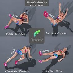 Today's routine - Abs of steel #fitonomy . Tag someone who loves working out abs .