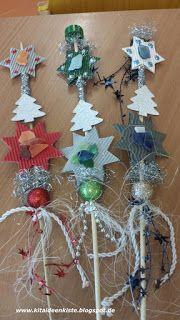Kita - Ideenkiste! Nicht nur für ErzieherInnen!: Weihnachtliche Blumenstecker