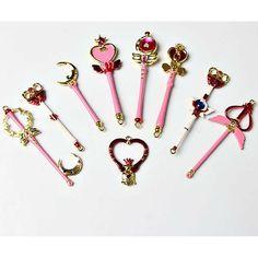 Sailor Moon Magic Wand Key Chain 9 Pieces SP164733