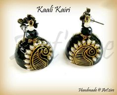Quilled jhumkas