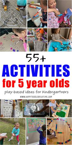 55+ Easy Activities for 5 Year Olds - HAPPY TODDLER PLAYTIME