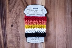 Lithsexual ( a.k.a Akoisexual ) Pride Flag Crochet Coffee Cozy by familycraftstudio