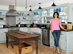 Jessica Seinfeld's Guest House Kitchen in the Hamptons | hookedonhouses.net