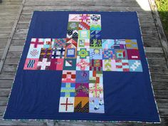 A Small City Sampler Quilt - Finished (JulieLou) Picnic Blanket, Outdoor Blanket, Modern Quilt Blocks, How To Finish A Quilt, I Give Up, It Is Finished, Embroidery, Quilts, City