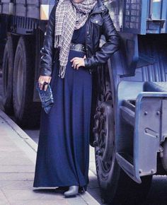 A leather jacket makes any outfit cute! #hijab