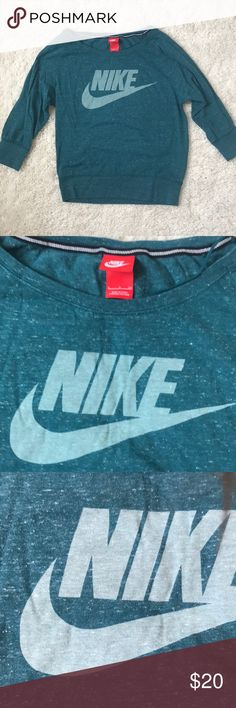 Nike top Nike three quarter length top - size small - in great condition with minor pilling in armpit area (shown in pic) Nike Tops