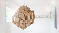 Floating City Cardboard Sculpture