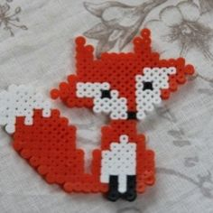 Fox hama perler by koalisa3