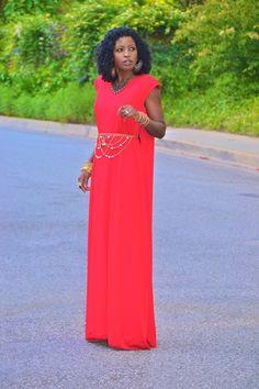 SWATH Look #3: Cape Maxi Dress