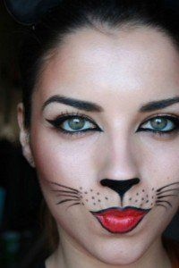 Suggestions makeup to get dressed cat Halloween! eukolo makigiaz gata