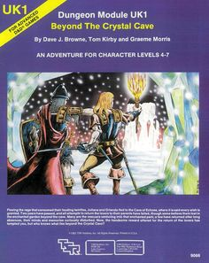 UK1 Beyond the Crystal Cave (1e) | Book cover and interior art for Advanced Dungeons and Dragons 1.0 - Advanced Dungeons & Dragons, D&D, DND, AD&D, ADND, 1st Edition, 1st Ed., 1.0, 1E, OSRIC, OSR, Roleplaying Game, Role Playing Game, RPG, Wizards of the Coast, WotC, TSR Inc. | Create your own roleplaying game books w/ RPG Bard: www.rpgbard.com | Not Trusty Sword art: click artwork for source