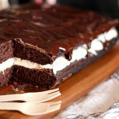 Whoopie Pie Cake | Starts with a cake mix. SO easy and delicious, one of our family favorites!