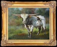 "Original Oil Painting Animals art Cow on canvas 20""x24"""