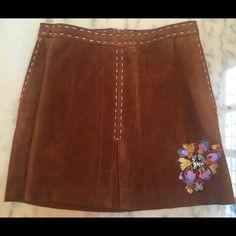 Selling this 100% Leather Sueded Mini Skirt on Poshmark! My username is: vaganoff. #shopmycloset #poshmark #fashion #shopping #style #forsale #Lili De Rose #Dresses & Skirts