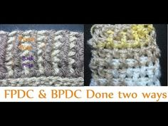 FRONT POST AND BACK POST DC, how to, crochet lesson, video tutorial, vertical ribbing stitch - YouTube