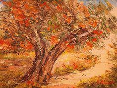 Ulivo di Scarciello ( Cosenza Italia ). Anno 1978. Dipinto dal vero. Olio su tela. Dim. cm. 30 x cm 40. Painting, Palms, Italia, Artists, Painting Art, Paintings, Painted Canvas, Drawings
