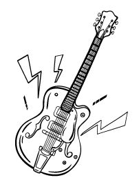 free printable coloring page for your kids  page 35  Guitar