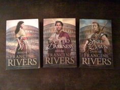 One of the most life changing christian series I've ever read. Francine Rivers brings ancient Rome to life in such a breathtaking way, you can almost feel the roar of the crowds packed into the colloseum as they wait for the spill of human blood. The realism and imagery she paints is astonishing, at times disturbing, yet extremely moving.