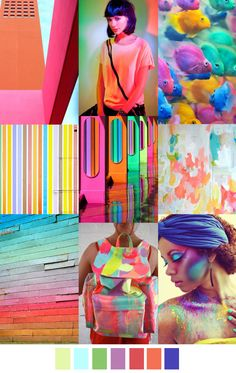 Tropical inspiration. Gorgeous, colorful yet soft and feminine. #tropicalcolors #colorswatches