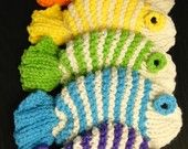 fishy dishcloths