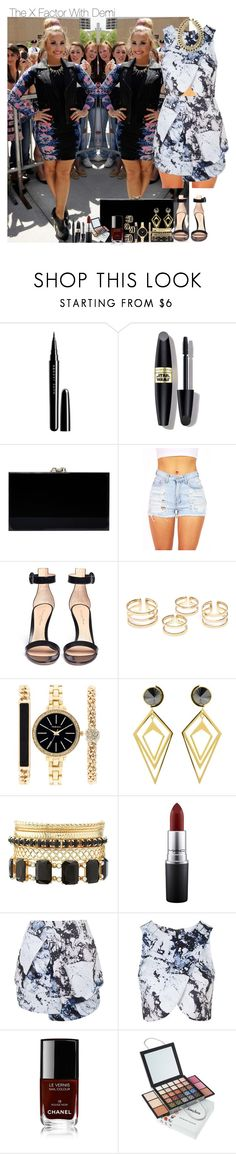 """""""The X Factor With Demi"""" by isabellahoran-776 ❤ liked on Polyvore featuring Marc Jacobs, Max Factor, Charlotte Olympia, Gianvito Rossi, Style & Co., Sarah Magid, Charlotte Russe, MAC Cosmetics, Topshop and Chanel"""