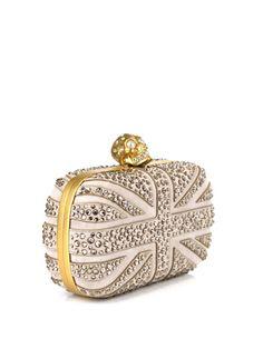 ALEXANDER MCQUEEN  Swarovski crystal Britannia box clutch!!! OMG <3 <3