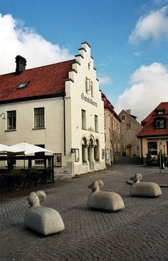 This photo from Gotland, Gotaland is titled 'Three rams at Stora Torget, Visby'. Wonderful Places, Great Places, Places To See, Beautiful Places, Countries Europe, Nordics Countries, Beautiful Islands, Beautiful World, Kingdom Of Sweden