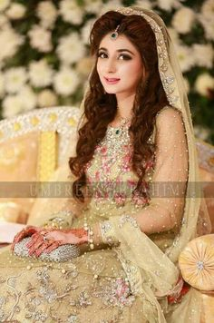 Latest Bridal Dresses 2017 For All Events-Part 2 – Always be in fashion Latest Bridal Dresses, Beautiful Bridal Dresses, Bridal Outfits, Wedding Dress Styles, Pakistan Bride, Pakistan Wedding, Pakistani Bridal Makeup, Pakistani Wedding Outfits, Indian Wedding Bride