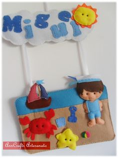 Another ornament door made for Miguel who's a boy who loves the sea.
