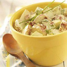 Avocado and bacon potato salad