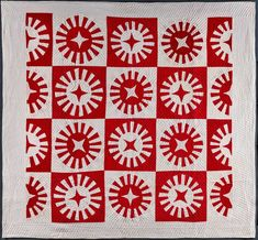 Infinite Variety: Three Centuries of Red and White Quilts American Folk Art Museum Antique Quilts, Vintage Quilts, Red Brolly, Map Quilt, Craft Museum, Circle Quilts, Star Quilts, Two Color Quilts, Red And White Quilts