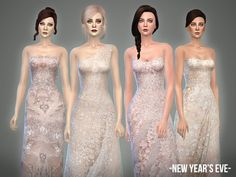 New Year's Eve collection 4 beaded gowns by April at TSR • Sims 4 Updates