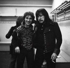 John and Keith back stage, 1971 (photos courtesy of Marc Starcke)