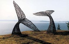 Peter Busby's Whale tale sculpture is amazing! Outdoor Sculpture, Outdoor Art, Sculpture Art, Metal Sculptures, Abstract Sculpture, Bronze Sculpture, Land Art, Art Et Nature, Wow Art