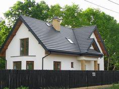 Widok domu z ulicy  #projekt #dom #realizacja